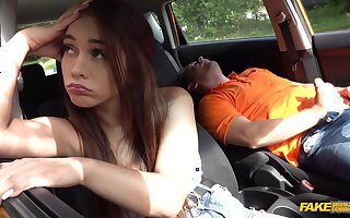 Hangover sex in the motor vehicle wide Ginebra Bellucci