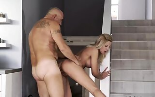 Creepy old baffle and daddy boss's son entertainment To be sure at
