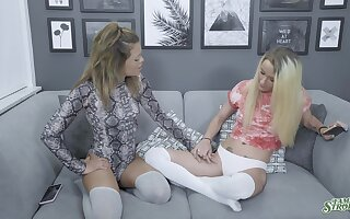 Softcore oral fun leads these chicks to insane bushwa sharing XXX