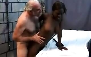 Teen stepdaughter interracial doggystyle with black stepdad