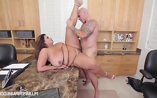 FAT Sofia Serrate Gets Screwed On The Job