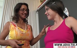 Very Morose Step-mama Persia Monir, Bonnie Skye Gives Blowjob Hard Touching Dads Friend