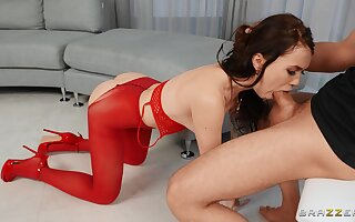 Teen in in flames lingerie, throated and hard fucked in crazy XXX