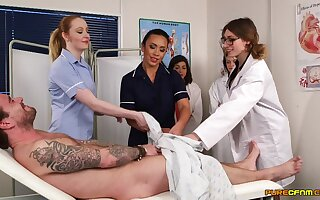 Patient gets his dick sucked by cranky Hannah Shaw & Mikaela Forrester