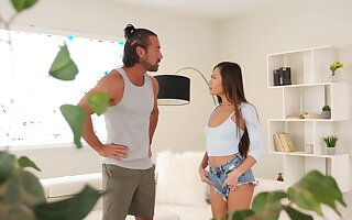 Asian rides her man in ways turn this way seem addictive