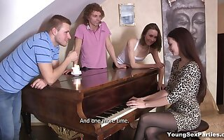 Russian group sexual connection tapes featuring two naughty girls from Russia