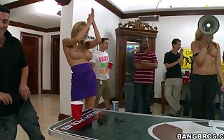 Very hot and naughty college party in bangbros style