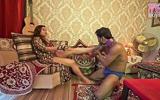Raunchy Chocolate Indian Couple Femdom Sex