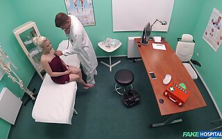 Teen hottie Anna Rey receives a rough dicking nearby the doc's office