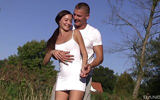 Hot ass girlfriend Heather Harris fucked in not on with an increment of loves it