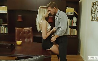consumptive babe Kenna James hot office sex