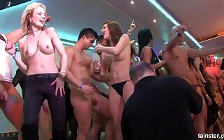 Crazy naked dances in rub-down the night-time rout