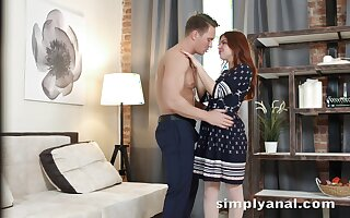 Appealing ginger girl Renata Apollyon gets her anus fucked for the first era