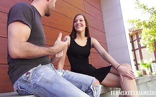 Dude fucks sex-appeal teen with perky tits Molly Manson
