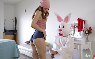 Lusty young chick Lily Adams rides sloppy horseshit be advisable for fluffy dressed dude