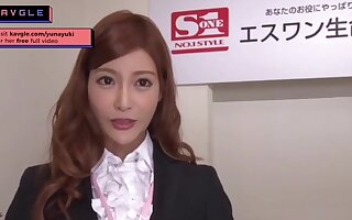 Arousing uncensored Japanese mommy office model sexual congress her colleagues