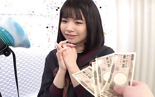 Asian teen gets fucked for cash