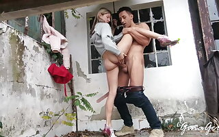 Hard public sex in the forest